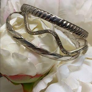 925 sterling vintage bangle bracelets
